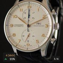 IWC Portuguese Chronograph Aço 41mm Árabes Portugal, Porto
