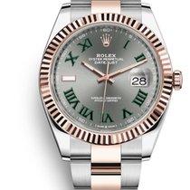 Rolex Datejust II Gold/Steel 41mm Green Roman numerals United States of America, New Jersey, Totowa