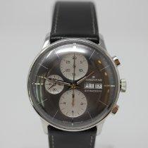 Junghans Chronograph 40mm Automatik 2019 neu Meister Chronoscope Grau
