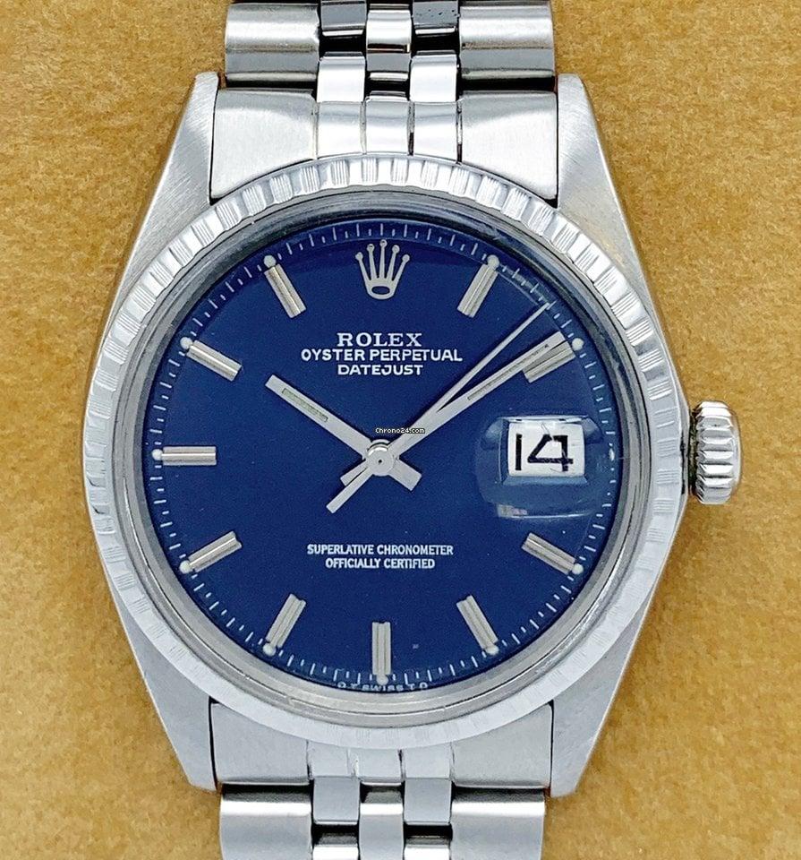 Rolex Datejust 1603 Blue Dial 36mm 1973