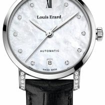 Louis Erard Excellence Steel 32mm Mother of pearl