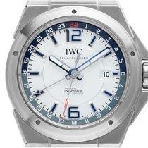 IWC Ingenieur Dual Time Otel 43mm Alb Arabic