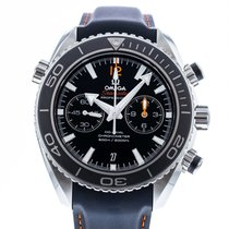 Omega Seamaster Planet Ocean Chronograph pre-owned 45.5mm Black Date Rubber