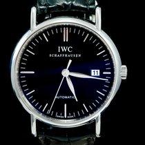 IWC Portofino Automatic Acier 39mm Noir Sans chiffres