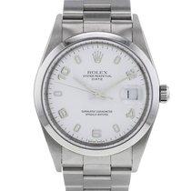 Rolex Oyster Perpetual Date Acier 34mm Blanc Arabes France, Paris