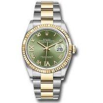 Rolex Datejust Acero 36mm Verde Romanos