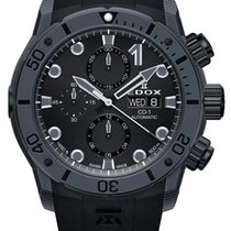 Edox Carbon Chronograph Black 45mm new