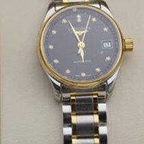 Longines Master Collection L2.128.5.57.7 Longines MASTER Acciaio Oro Nero Diamanti 25,5 новые