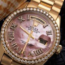 Rolex Day-Date President Pink MOP Roman  Diamond Dial Bezel 18038
