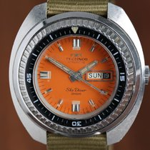 Technos 45mm Automatik gebraucht Orange