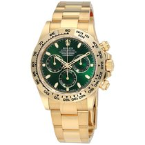Rolex Daytona 18K Yellow Gold Watch Green Dial Watch 116508