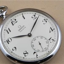 Omega Steel Manual winding Omega Pocket Watch with Sub Seconds pre-owned