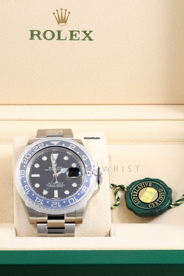 Rolex Gmt Master 116710 Blnr Black Blue W Box Papers Stickers