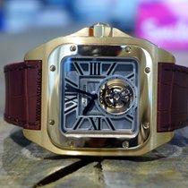 Cartier Oro rosado Cuerda manual 46.5mm Santos 100