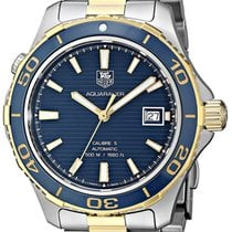 TAG Heuer WAK2120.BB0835 Gold/Steel Aquaracer 500M 41mm pre-owned United States of America, New York, Greenvale