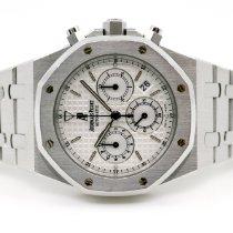 Audemars Piguet Royal Oak Chronograph gebraucht 39mm Weiß Chronograph Datum Stahl