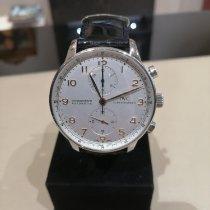 IWC Portuguese Chronograph Acero 41mm Blanco Arábigos