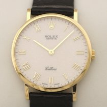 Rolex Cellini Yellow gold 32mm Silver Roman numerals