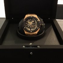 Hublot Rose gold Automatic Black No numerals 45mm pre-owned Big Bang