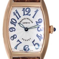 Franck Muller Cintree Curvex Watch 1752 Silver Guilloche Dial