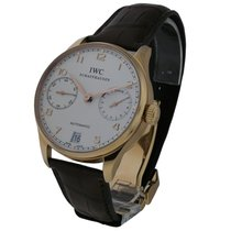 IWC IW500113 Portuguese 7 Day Automatic in Rose Gold - on...