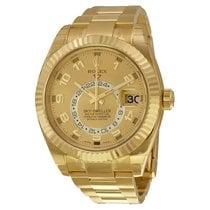 Rolex Sky-Dweller Желтое золото 42mm Золотой Aрабские