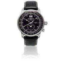 Zeppelin Chronometer 42mm Quartz new Black