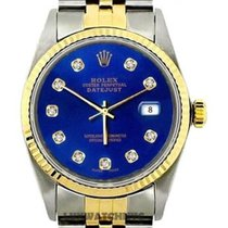 Rolex Datejust Men's 36mm Blue Dial Stainless Steel And...