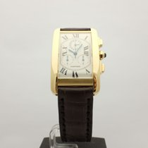 Cartier Tank Americaine Chronograph Yellow Gold Perpetual...