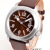 Anonimo Millemetri Steel 42mm Brown