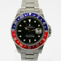 Rolex GMT-Master Date Pepsi 40 mm Stainless Steel Ref# 16700