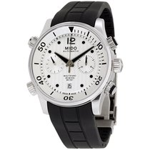 Mido Multifort Silver Dial Silicone Strap Men's Watch M0059141...
