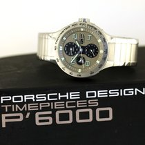 Porsche Design Flat Six Çelik 44mm Gri