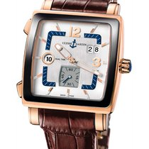 Ulysse Nardin Quadrato Dual Time Rose gold Silver United States of America, Florida, North Miami Beach