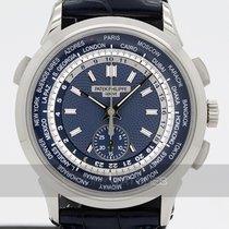 Patek Philippe World Time Chronograph Bílé zlato 39.5mm Modrá