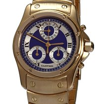 Cartier Santos (submodel) Yellow gold 30mm Blue Roman numerals United States of America, Florida, Plantation