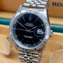 Rolex Datejust Turn-O-Graph Сталь 36mm Чёрный Без цифр