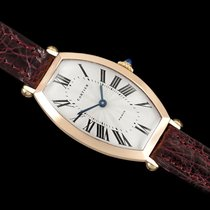 Cartier Tonneau Rose gold 26mm Silver Roman numerals
