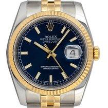 Rolex Datejust Or/Acier 36mm Bleu