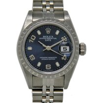 Rolex Acero Automático Azul 26mm usados Oyster Perpetual Lady Date