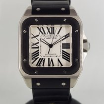 Cartier pre-owned Automatic 38mm Silver Sapphire crystal 10 ATM