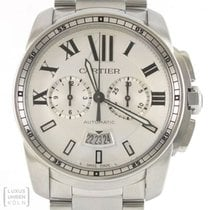 Cartier Calibre de Cartier Chronograph Acero 43mm Plata