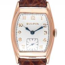 Bulova Vintage Tonneau Roségold Handaufzug Armband Leder...