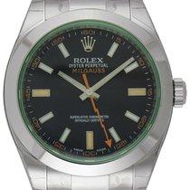 Rolex : Milgauss :  116400GV :  Stainless Steel : black dial :...