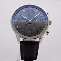 IWC Portuguese WHITE Gold Automatic Chronograph Grey dial