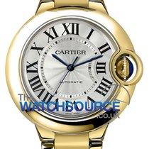 Cartier Жёлтое золото Автоподзавод Cеребро Римские 33mm новые Ballon Bleu 33mm