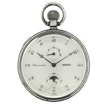 Zenith Silver Deck Pocket Watch Chronometer Cal. 5011K, Moonphase
