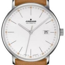 Junghans Form A stainless steel case white dial cognac leather...