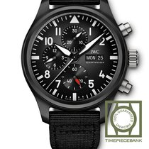 IWC Pilot Chronograph Top Gun Keramiek 44.5mm Zwart Arabisch