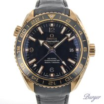 Omega Seamaster Planet Ocean Rose gold 43.5mm Black Arabic numerals